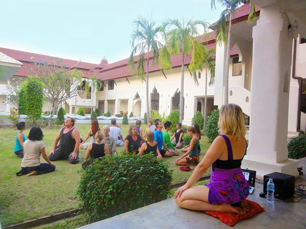 Group practicing Hatha Yoga